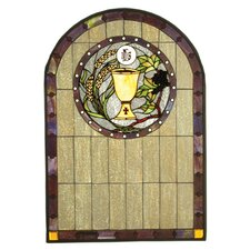 Victorian Tiffany Gothic Fruit Religious Sacrament Stained Glass Window