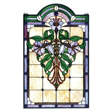 <strong>Meyda Tiffany</strong> Tiffany Floral Nouveau Nouveau Lily Stained Glass Window