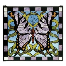 <strong>Meyda Tiffany</strong> Butterfly Stained Glass Window
