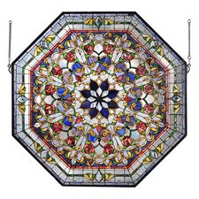 <strong>Meyda Tiffany</strong> Victorian Tiffany Floral Front Hal Stained Glass Window