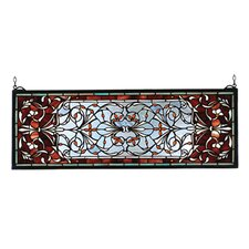 Victorian Tiffany Nouveau Versaille Transom Stained Glass Window