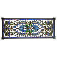 Victorian Tiffany Nouveau Antoinette Transom Stained Glass Window