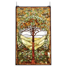 Tiffany Nouveau Fruit Tiffany Tree of Life Stained Glass Window