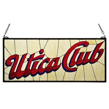 Recreation Utica Club Stained Glass Window