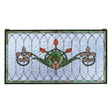 Floral Nouveau Recreation Tulip and Fleurs Stained Glass Window