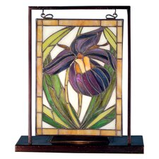 Floral Lady Slippers Lighted Mini Table Lamp