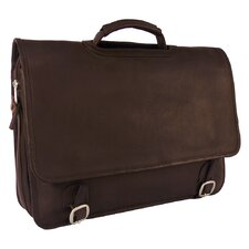 Heritage Grammercy Park Laptop Expandable Flap Leather  Briefcase