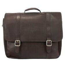 Heritage Hi-Performance Laptop Flap Leather Briefcase