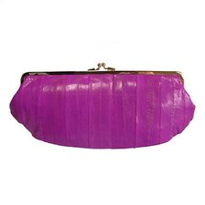 Eel Skin Framed Clutch