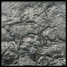 "4"" x 4"" Glass Tile in Platinum"