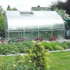 "Riga IV 6'11"" H x 7'8"" W x 14' D Polycarbonate Commercial Greenhouse"