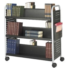 Scoot Double Sided 3 Shelf Bookcase