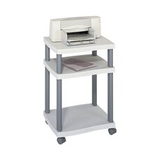 Wave Desk Side Printer Stand in Grey