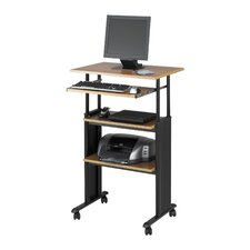 MUV Stand Up Workstation Height Adjustable in Medium Oak