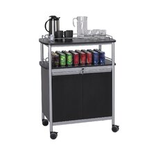 Steel Mobile Refreshment Cart in Black