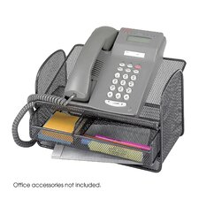 Onyx Mesh Telephone Stand in Black