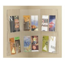 Corner Display 12 x 1/3 A4 Pockets in Clear