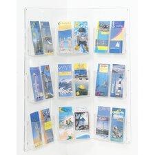 Corner Display 18 x 1/3 A4 Pockets in Clear