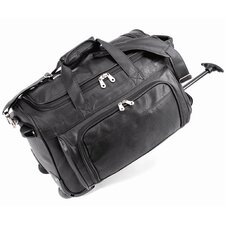 "<strong>U.S. Traveler</strong> 20"" Status Koskin Leather 2-Wheeled Carry-On Duffel"