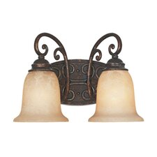 <strong>Designers Fountain</strong> Amherst 2 Light Vanity Light