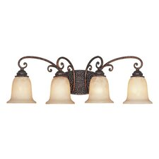 <strong>Designers Fountain</strong> Amherst 4 Light Vanity Light