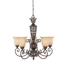 <strong>Designers Fountain</strong> Amherst 5 Light Chandelier