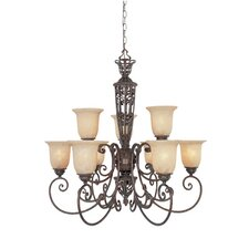 <strong>Designers Fountain</strong> Amherst 9 Light Chandelier