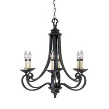 <strong>Designers Fountain</strong> Barcelona 6 Light Chandelier