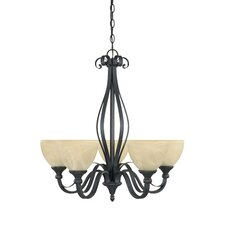 <strong>Designers Fountain</strong> Del Amo 5 Light Chandelier