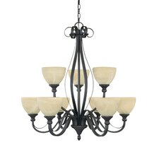 Del Amo 9 Light Chandelier