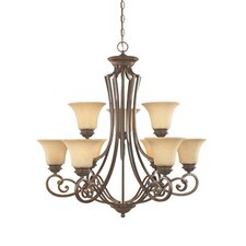<strong>Designers Fountain</strong> Mendocino 9 Light Chandelier