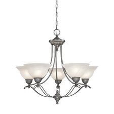 <strong>Designers Fountain</strong> Palladium 5 Light Chandelier