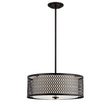 <strong>Designers Fountain</strong> Continental 3 Light Drum Pendant