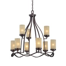 <strong>Designers Fountain</strong> Castello 9 Light Chandelier