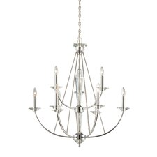 <strong>Designers Fountain</strong> Palatial 9 Light Chandelier