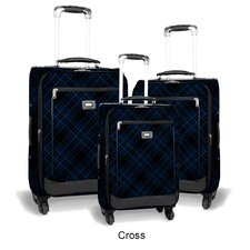 Crescent 3 Piece 4 Wheels Expandable Luggage Set