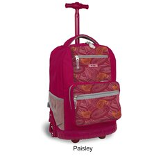 "Sunset 18"" Multi Pocket Rolling Backpack"