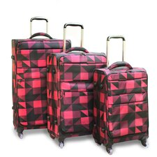 <strong>J World</strong> Kist 3 Piece Light-Weight Luggage Set