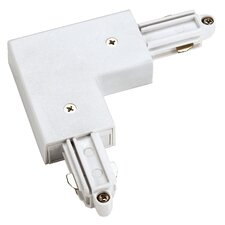 Corner Track Connector with Outer Earth Conductor in White
