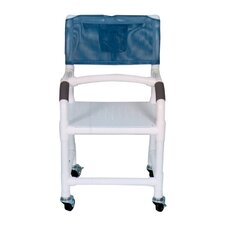 Standard Deluxe Shower Chair with Flat Stock Seat and Optional Accessories