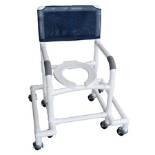 Standard Deluxe Shower Chair with Anti Tip Outriggers with Optional Accessories
