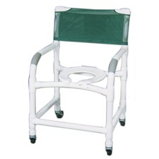 Wide Deluxe Shower Chair and Optional Accessories