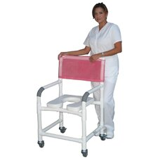 Wide Deluxe Shower Chair with Open Front Soft Seat and Optional Accessories