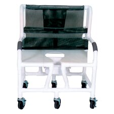 Bariatric Commode Shower Chair and Optional Sliding Footrest