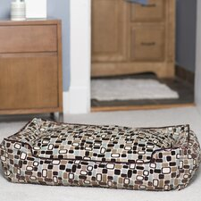 Flocked Lounge Bolster Dog Bed