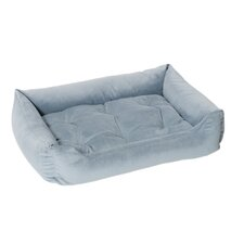 Plush Velour Nest Dog Bed in Caribbean Blue