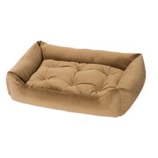 Plush Velour Nest Bolster Dog Bed