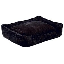 Corduroy Lounge Dog Bed in Midnight