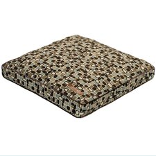 Flocked Pillow Dog Bed in Pebbles