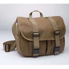 Tin Cloth Medium Field Bag in Dark Tan